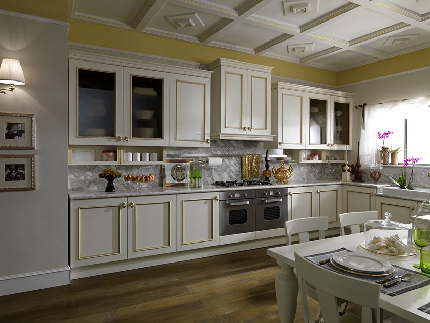 Cucina laccata con maniglie ROMANTICA DECOR | Cucina laccata - Febal ...