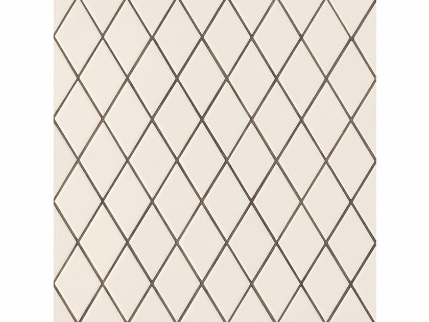 Porcelain stoneware wall/floor tiles ROMBINI LOSANGE WHITE GREEN - MUTINA
