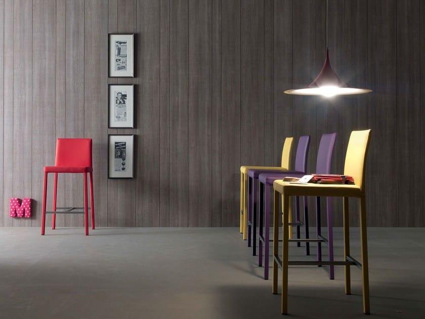 Imitation leather stool ROMEO | High stool - ITALY DREAM DESIGN - Kallisté
