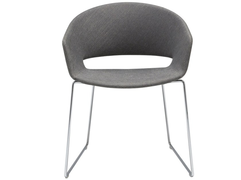 Trestle-based steel chair RONDA - Andreu World