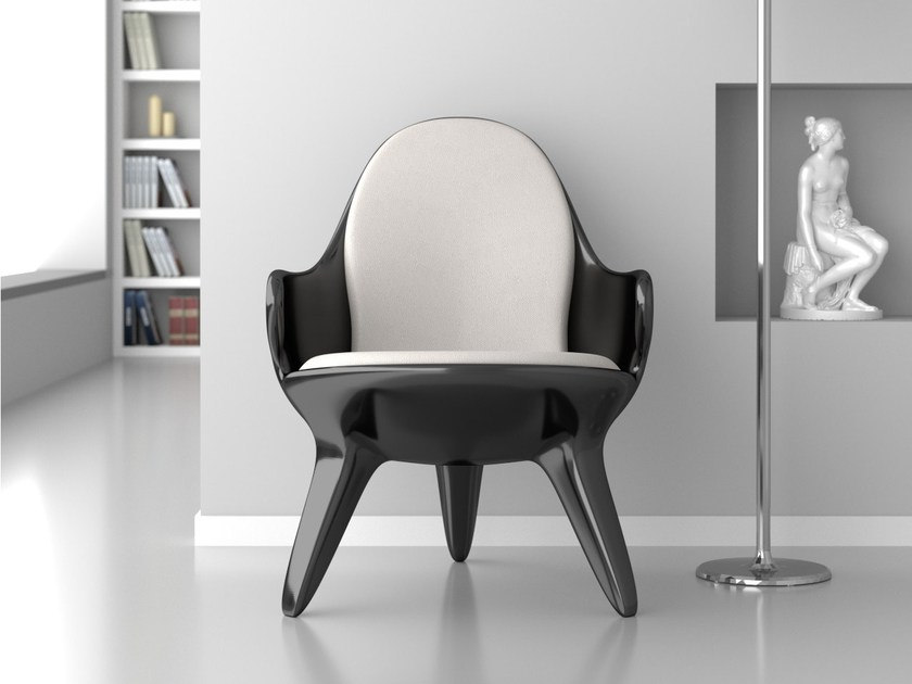 Adamantx® easy chair with armrests RONDINE - ZAD ITALY