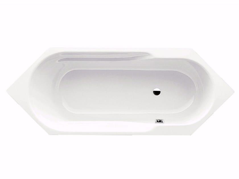 Built-in hexagonal steel bathtub RONDO 6 - Kaldewei Italia