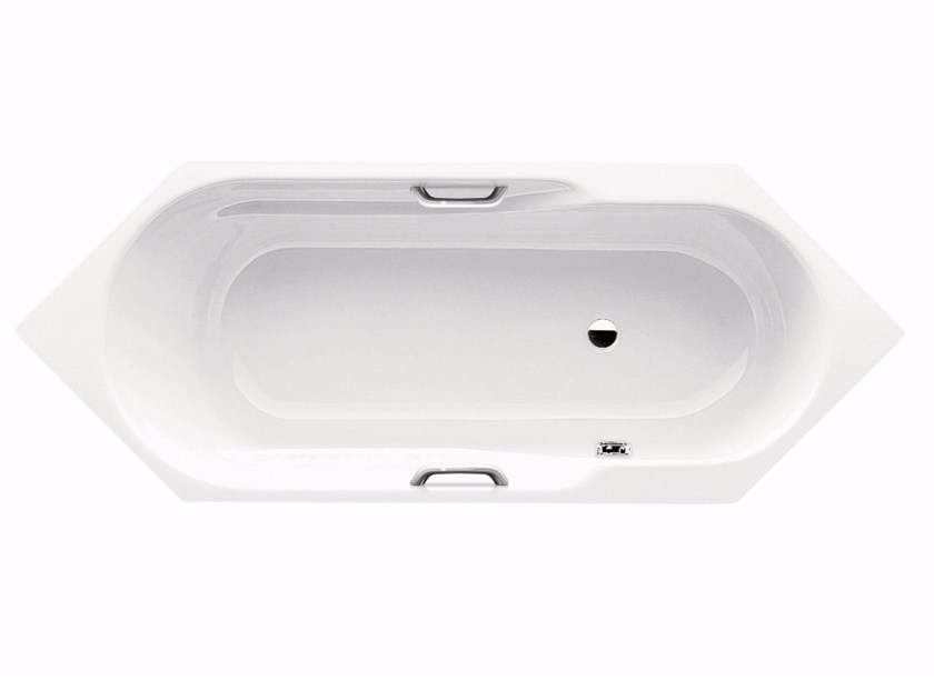 Built-in hexagonal steel bathtub RONDO 6 STAR - Kaldewei Italia