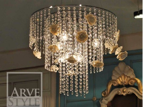 Direct light chandelier ROSA | Pendant lamp by Arvestyle