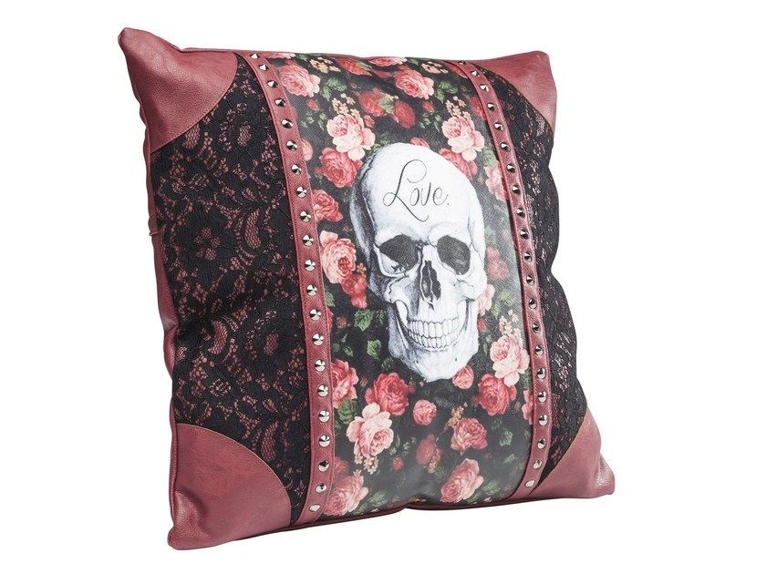 Square cushion ROSE SKULL 45x45 by KARE-DESIGN