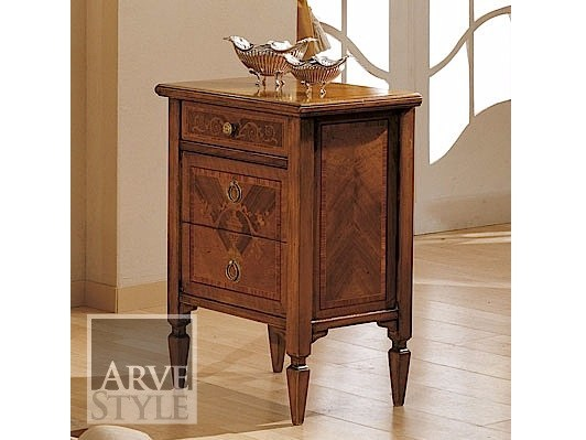Solid wood bedside table with drawers ROSSINI | Bedside table - Arvestyle