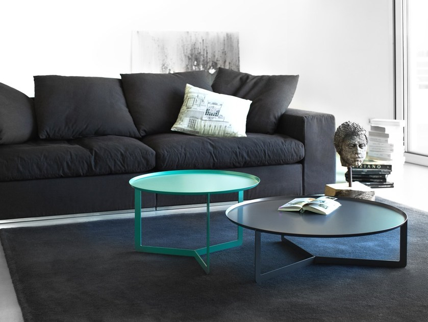 Round metal coffee table ROUND 2 by meme design