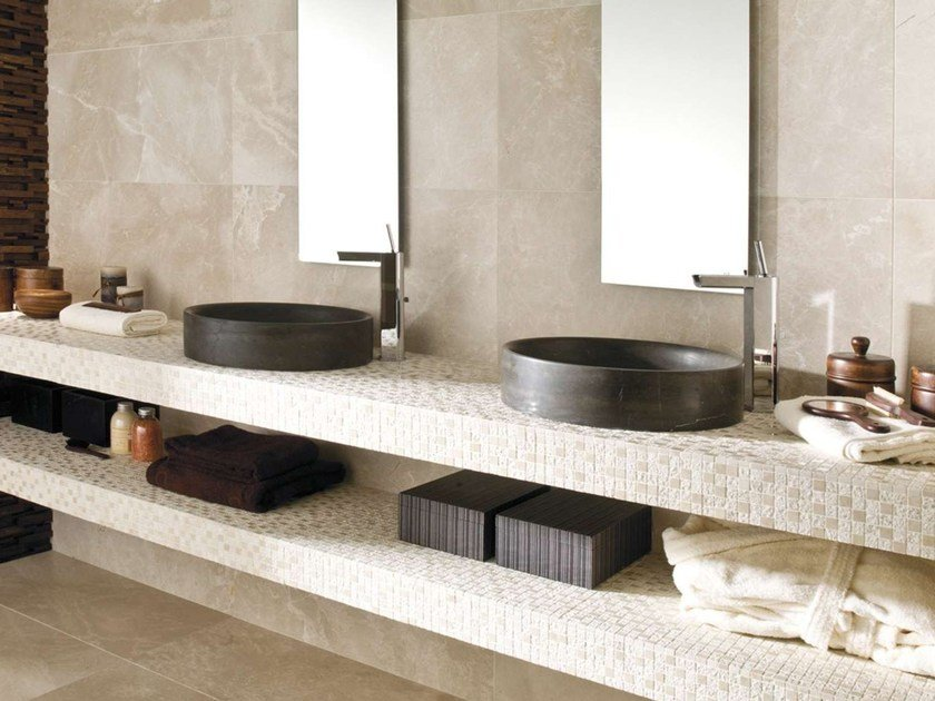 Countertop round natural stone washbasin ROUND by L'antic Colonial