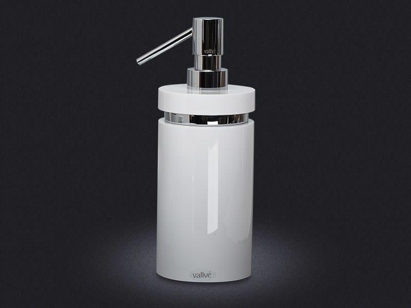 Resin liquid soap dispenser ROUND RING | Liquid soap dispenser - Vallvé Bathroom Boutique