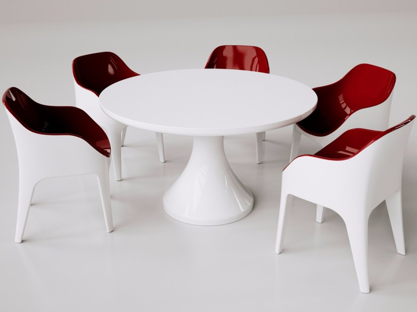 Tavolo rotondo in Adamantx® ROUND TABLE by ZAD ITALY