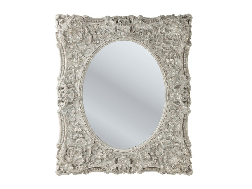 Rectangular wall-mounted framed mirror ROYAL - KARE-DESIGN