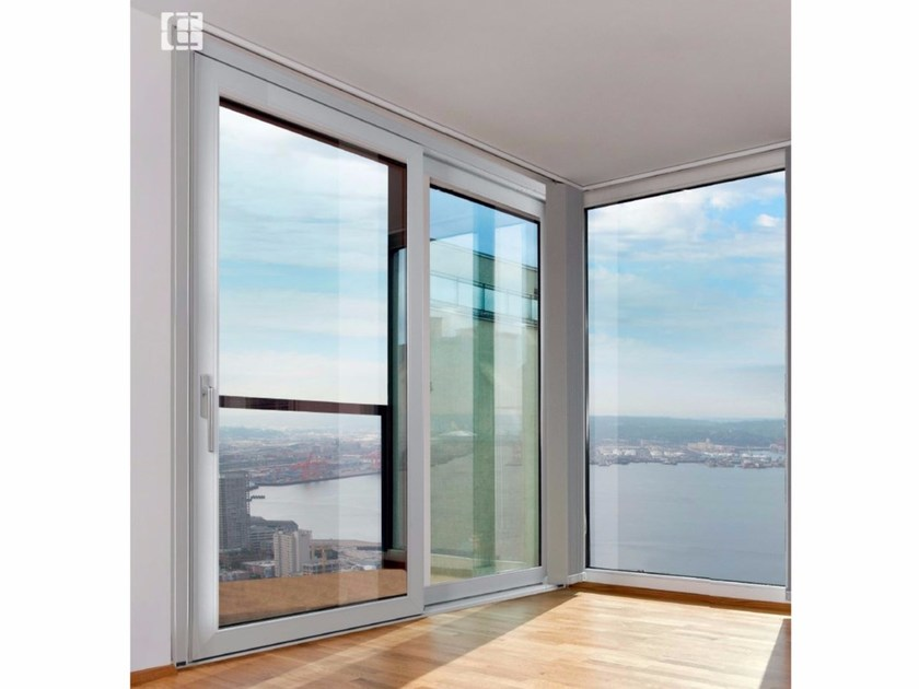 PVC patio door RUBINO SLIDE AL - Cos.Met. F.lli Rubolino