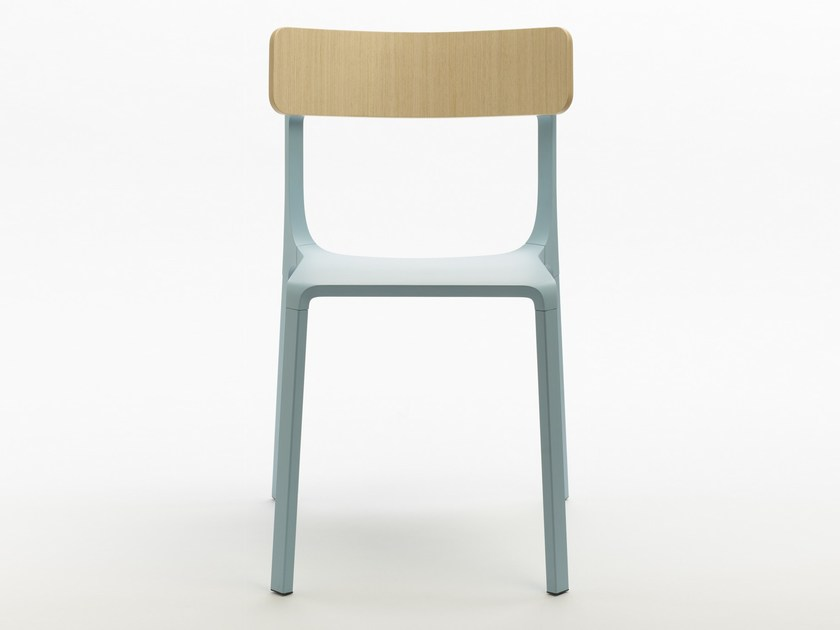 Contemporary style stackable aluminium restaurant chair RUELLE by Infiniti