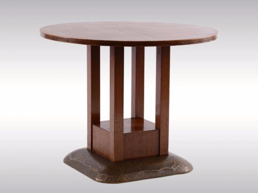 Round mahogany table RUNDER TISCH by Woka Lamps Vienna