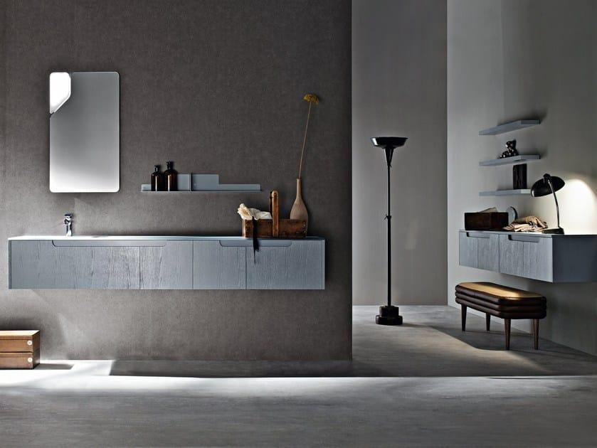 Sectional single wall-mounted vanity unit RYO NEW 18/19 - Cerasa