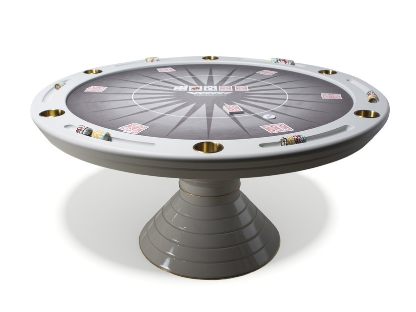 Round game table Round poker table by Vismara Design