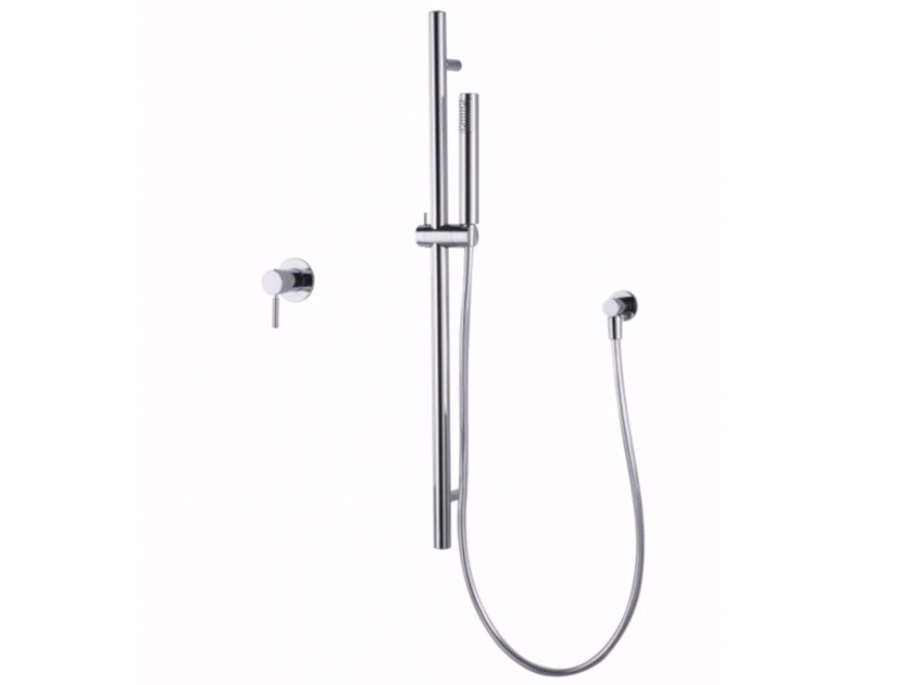 Brass shower wallbar with hand shower Round section sliding bar by tender rain