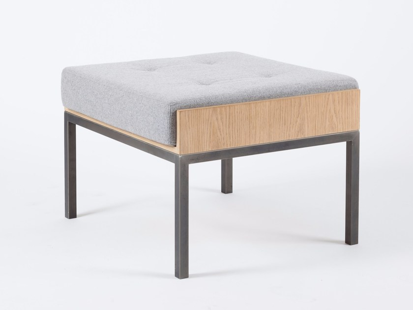 Fabric footstool SÉVERIN | Footstool - Alex de Rouvray design