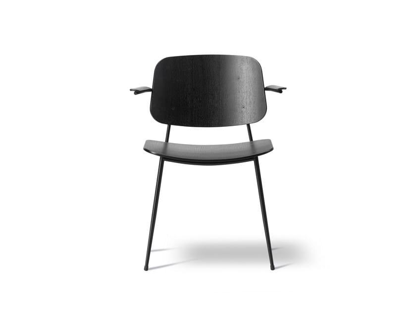 Sedia in legno con braccioli SØBORG | Sedia con braccioli - FREDERICIA FURNITURE