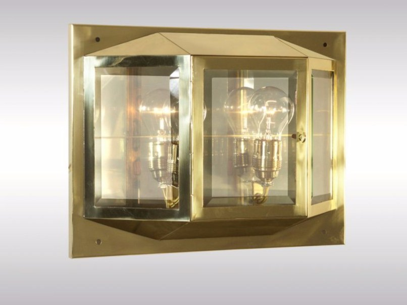 Brass wall lamp S+W | Wall lamp - Woka Lamps Vienna