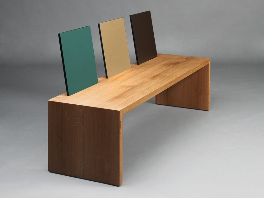 Wooden bench with back S900 | Wooden bench - Janua