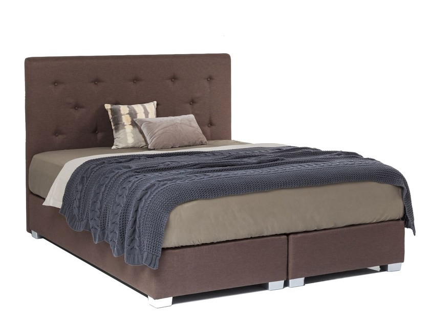 Double bed with tufted headboard SACRAMENTO by KARE-DESIGN