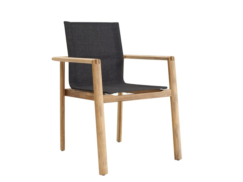 Sedia da giardino impilabile con braccioli SAFARI | Sedia by solpuri