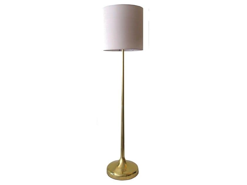 Brass floor lamp SAFIO | Floor lamp - Branco sobre Branco
