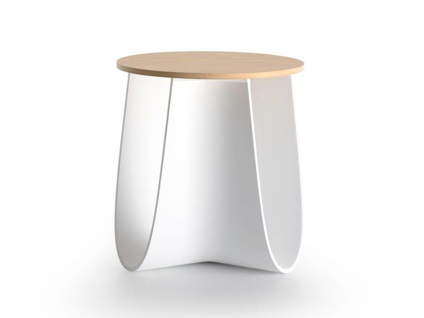 Polyurethane stool / coffee table SAG by MDF Italia