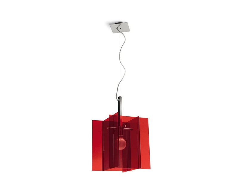 Adjustable pendant lamp SAGITTA | Methacrylate pendant lamp by Calligaris