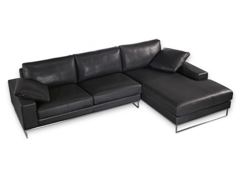 Sectional leather sofa with chaise longue SAINT JOHN PERSE | Sectional sofa - Canapés Duvivier