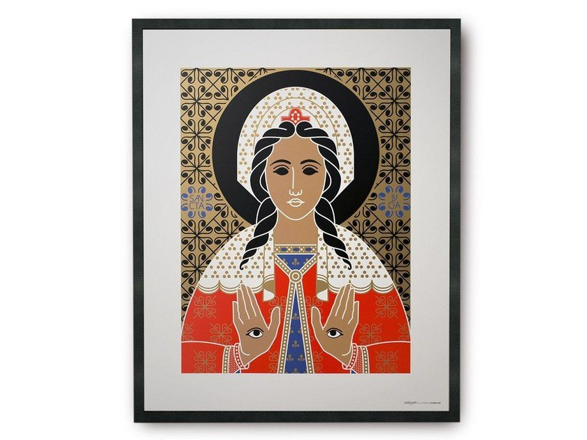 Coated paper Print on paper SAINT LUCY   Print on paper by TuttiSanti