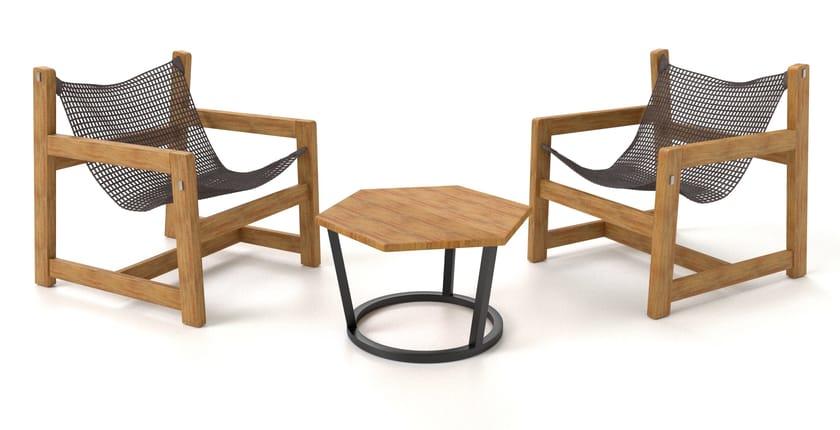Tavolino quadrato in alluminio SAINT MORITZ | Tavolino - Sérénité Luxury Monaco