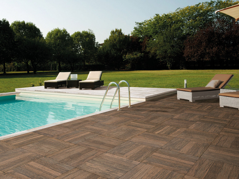 Outdoor floor tiles with wood effect SAINT TROPEZ | Outdoor floor tiles - CIR