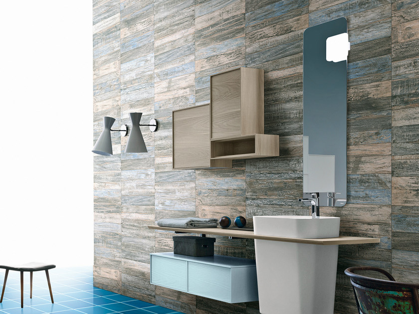 Glazed stoneware wall tiles with wood effect SAINT TROPEZ | Wall tiles by CIR