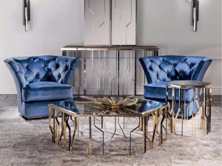 Tufted fabric armchair SAKI - Fratelli Longhi