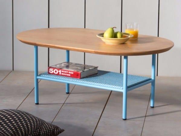 Oval oak coffee table SALBE | Oak coffee table - Kann Design