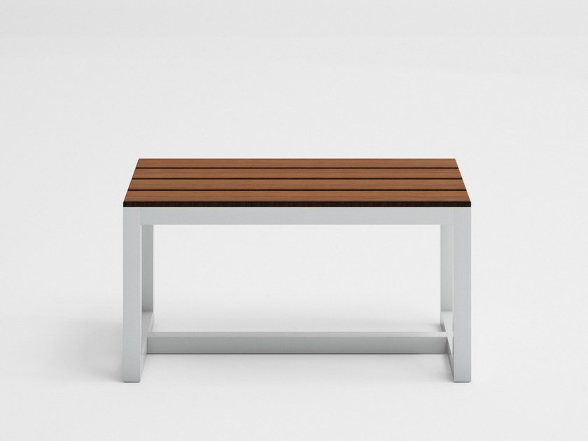 Teak garden bench SALER SOFT TEAK | Garden bench by GANDIA BLASCO