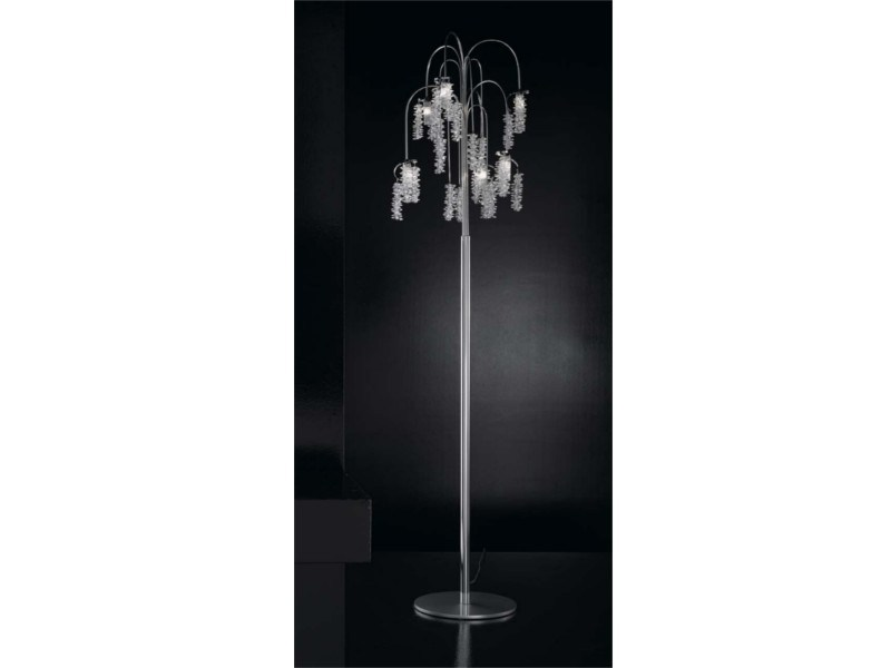 Direct light crystal floor lamp SALICE | Floor lamp - IDL EXPORT
