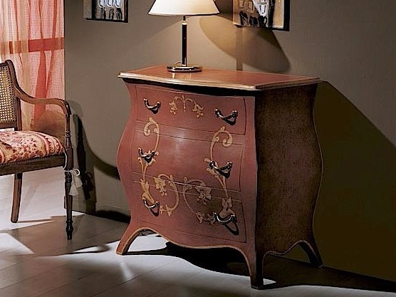 Lacquered solid wood dresser AUGUSTO | Lacquered dresser by Arvestyle