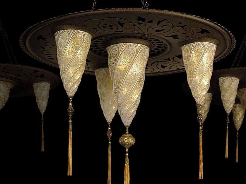 Glass pendant lamp SAMARKANDA SULTANO - Fortuny® by Venetia Studium