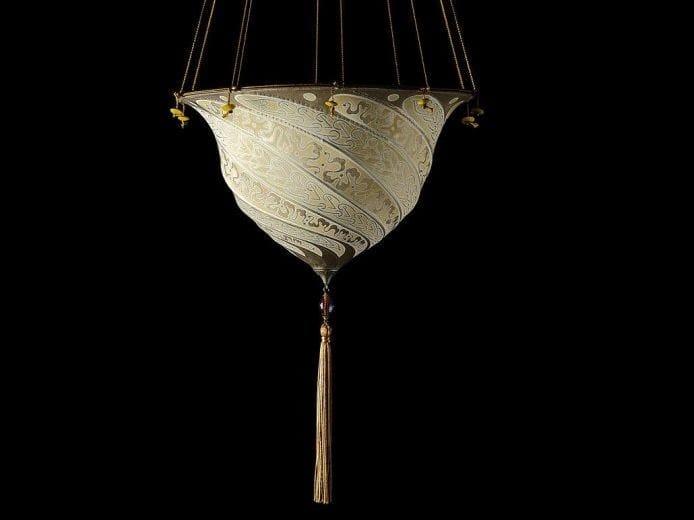 Silk pendant lamp SAMARKANDA | Silk pendant lamp - Fortuny® by Venetia Studium