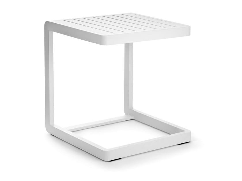Square aluminium garden side table SAMBA RIO | Aluminium coffee table - Roberti Rattan