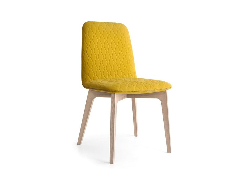 Upholstered cotton chair SAMI - Calligaris
