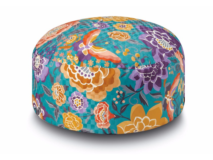 Satin pouf with removable lining SAMOA | Pouf by MissoniHome