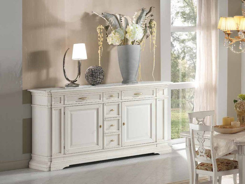 Solid wood sideboard with drawers SAN MARCO | Lacquered sideboard by Arvestyle