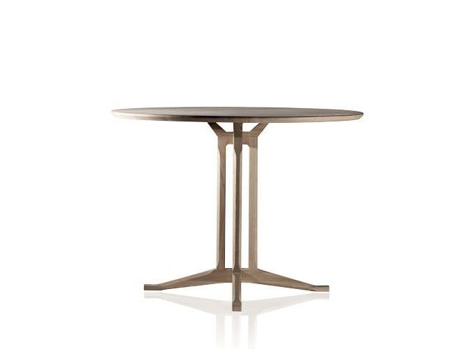Round oak table SAN VIGILIO - Produzione Privata