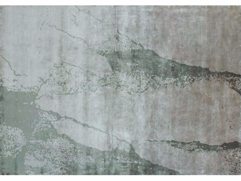 Handmade rectangular rug SAND GREEN | Contemporary style rug by EDITION BOUGAINVILLE