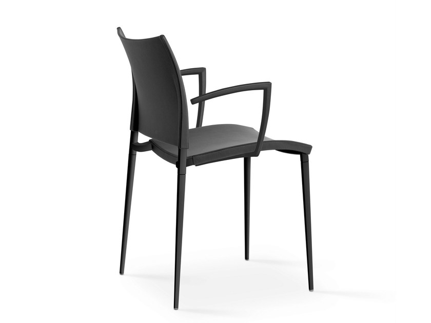 Polypropylene chair with armrests SAND | Polypropylene chair - Desalto