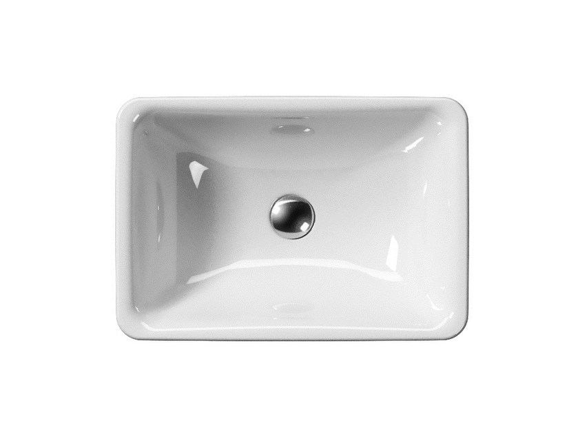 Freestanding rectangular washbasin SAND H85 | Freestanding washbasin - GSI ceramica